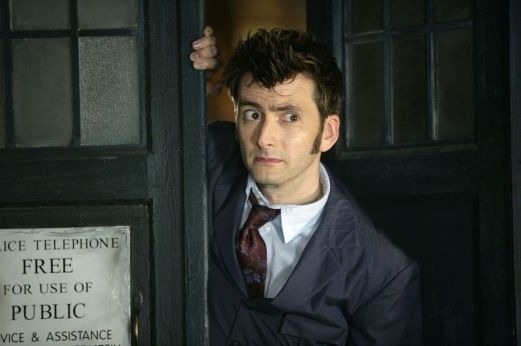 Dr. Who in the TARDIS